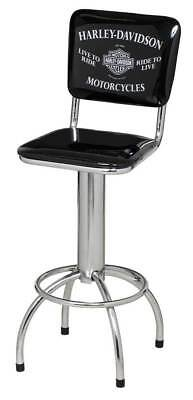 Harley Davidson Motorcycles Premium Quality Barstool with backrest Man Cave