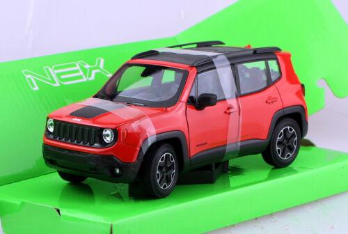 Jeep Renegade Trailhawk 2017 Orange 1:24 Welly maqueta de coche
