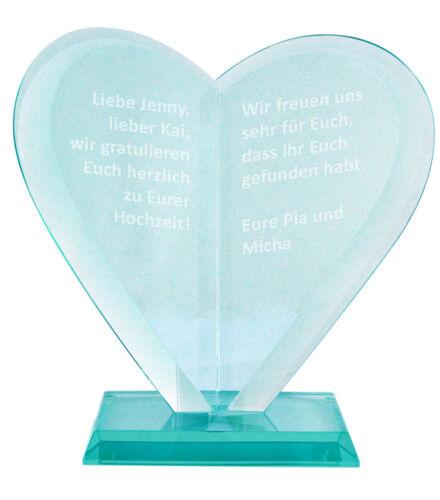 Herz Award mit Gravur Pokal Trophäe Geschenk zur Hochzeit Geburtstag Weihnachten