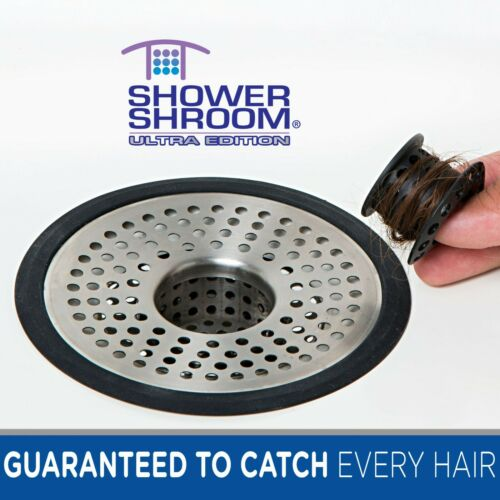 ShowerShroom Ultra Strainer Hair Catcher Drain Protector for Shower Stall Drains
