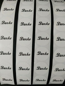 100-Etiketten-Sticker-Logo-Aufkleber-Danke-weiss-Button-Kleber-NEU