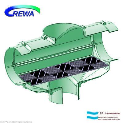 Filtro Acqua Piovana Rewa Cisterne Filtro F150xl Dn150 (160mm) Plastica Fissione Setaccio-ter Rewa Zisternenfilter F150xl Dn150 (160mm) Kunststoffspaltsieb It-it