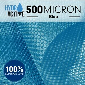 500Micron-UV-Stabilised-Solar-Swimming-Pool-Cover-Bubble-Blanket-Heater-Blue