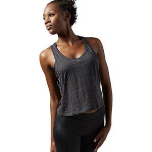 1a11541260d14 Reebok Tie Back Tank Top Women s Sports Sleeveless Boxer Jersey