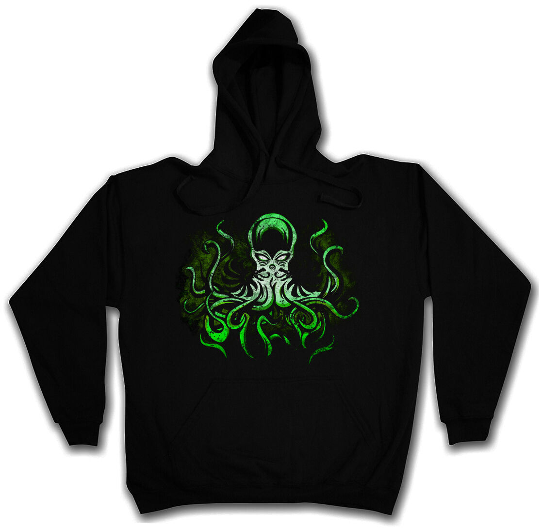 ELDER CTHULHU HOODED SWEAT HP Lovecraft Miskatonic Arkham Hoodie Kapuzenpullover