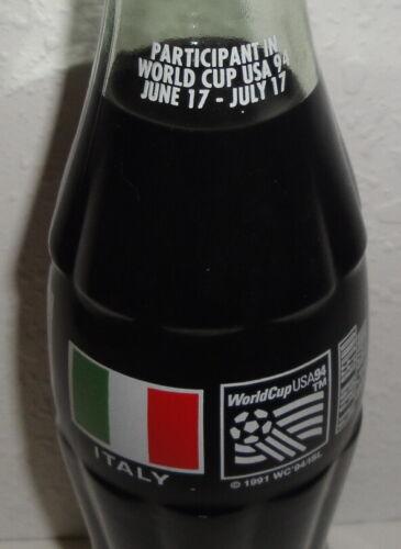 COCA COLA CLASSIC BOTTLE Italy USA World Cup 94 1994 Glass Unopened 8oz Coke