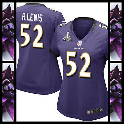 Ray Lewis Baltimore Ravens Women/Ladies Nike Jersey. Plus T-Shirt! Plus Charity!   eBay