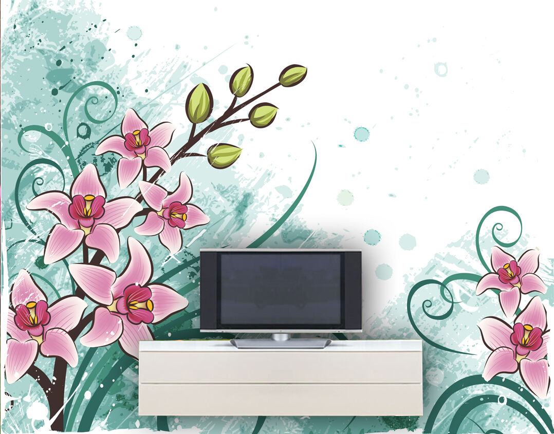 3D Flower vine patte1D Wall Paper Murals Wall Print Decal Wall Deco AJ WALLPAPER