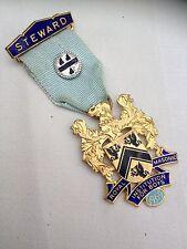 Vintage Masonic Free Mason Medal.