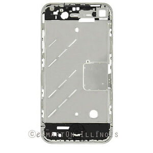 iPhone-4G-Mid-Cover-Chassis-Metal-Frame-Chrome-Bezel-Replacement-Part-GSM-USA