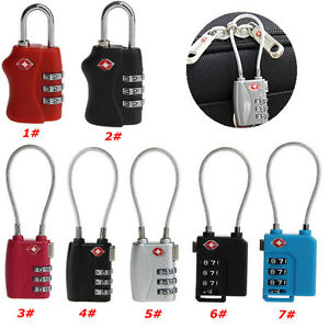 TSA-Resettable-3-Digit-Combination-Lock-Travel-Luggage-Suitcase-Code-Padlock-New