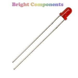 30-x-Red-LED-3mm-Resistors-5v-9v-or-12v-1st-CLASS-POST