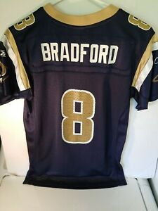 Sam-Bradford-Rams-Jersey-Shirt-Reebok-NFL-Equipment-On-Field-Youth-Medium-M