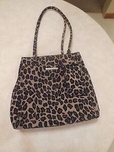 Nine West Leopard Animal Print Handbag Shoulder Bag w/Matching Phone Case Medium
