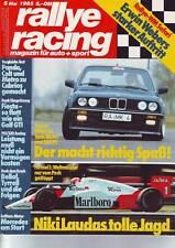 rallye racing 5/85 MK BMW 323i 2,7/Gubin BMW 320i GS1/VGS Mercedes 190/1985