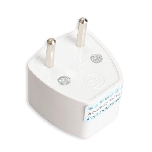 Universal US USA or UK to EU European 2 Prong Travel Power Plug Adapter 85-250V