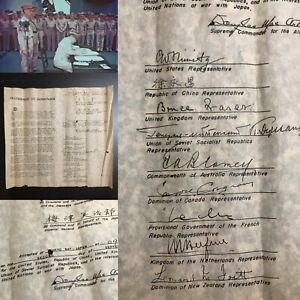 Rare-WWII-Japanese-Instrument-of-Surrender-Tokyo-Bay-September-2-1945-Relic