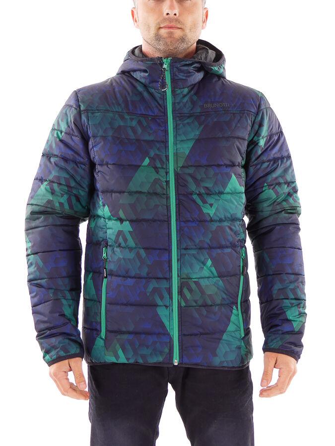 Brunotti vellón función chaqueta moruzzo azul transpirable patrón