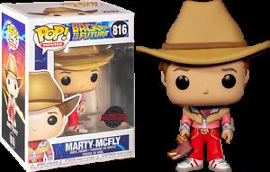 Volver-Al-Futuro-Parte-III-Marty-McFly-en-traje-de-Vaquero-figura-de-vinilo-Pop