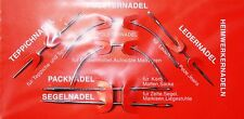 Set 6 Nadeln Polster- Leder- Pack- Segel- Teppichnadel Handwerker Heimwerker