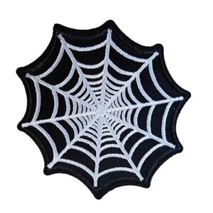 Black-Spider-web-Iron-On-Patch-Sew-on-transfer-Embroidered-badge-New-SPIDER-WEB
