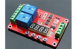DC-12V-Multifunction-2-Channel-Relay-PLC-Self-lock-Cycle-Timer-Time-Delay-Switch