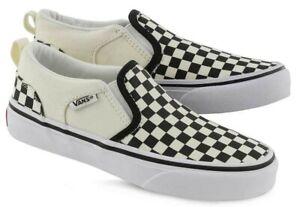 vans asher checkerboard slip on