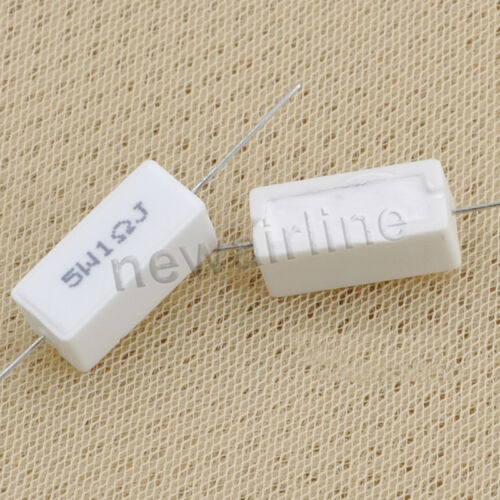 1PCS 5W 1-12 ohm Speaker Crossover Ceramic Cement Resistor Wirewound Resistor