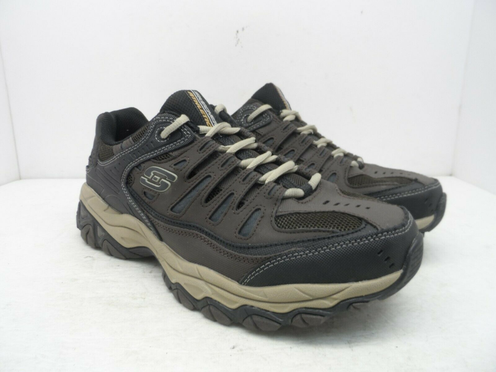 Skechers Sport Men's Afterburn 50125 Memory-Foam Lace-Up shoes Brown Taupe 9.5W
