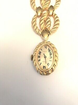 Vintage Stybro Gold Tone 17 Jewel A Propos Watch Necklace Rare Exquisite Craftsmanship; Girls' Clothing