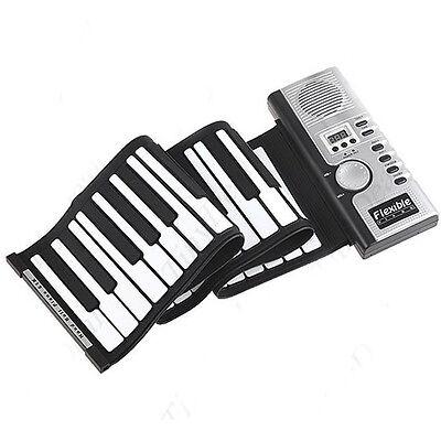Roll-Up Flexible Full 61 Soft Keys Synthesizer Electronic New Piano Keyboard Mic