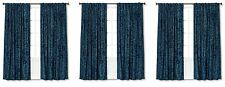 "LOT OF 6 THRESHOLD - DOT JACOBEAN BLUE ROD POCKET CURTAIN PANEL - 84""X54"""