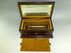 Details About Vintage Circa 1960s Swiss Reuge Music Box 72 3 Custom Wooden Case Jewelry Box