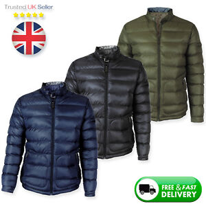 New-Mens-Winter-Puffer-Quilted-Jacket-Heavy-Weight-Warm-Padded-Outwear-Bomber