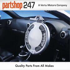 SMALL SILVER DISKLOK CAR STEERING WHEEL SECURITY AUTO LOCK ANTI THEFT CLAMP