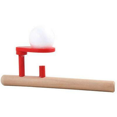 Wood Wooden Blow Flighting Ball Game Oral Speech Therapy Autism Training Toy H