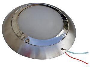 marine 12v round dome interior ceiling light for caravan boat rv five oceans ebay. Black Bedroom Furniture Sets. Home Design Ideas