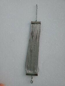 Layered-Silver-Tone-Bracelet-Women-039-s-Fashion-Jewelry