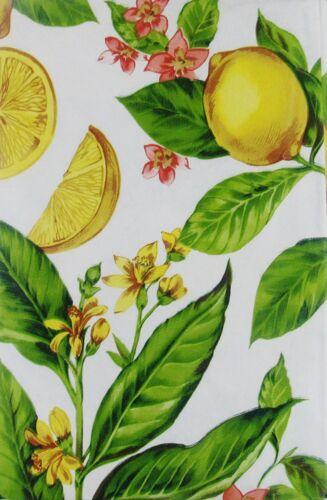 Sizes Lemons on Flowering Branches Vinyl Tablecloth Elrene Home Fashions Asst