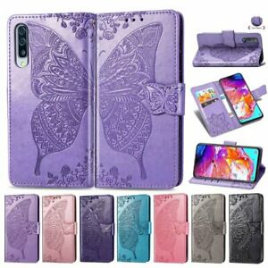 Butterfly-Faux-Leather-Wallet-Flip-Cell-Phone-Cases-For-Samsung-A70-A50-A40-A30