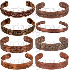 MENS CELTIC COPPER BANGLE MAGNETIC BRACELET PAIN RELIEF ARTHRITIS CARPAL TUNNEL