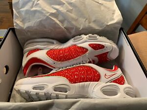 2019-Supreme-Nike-Air-Max-Tailwind-IV-4-White-RED-Size-13-AT3854-100-SOLD-OUT