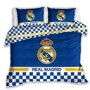 Details Zu Real Madrid Cf Blau Doppelbett Bezug Set Baumwolle Europaisch Bettwasche Fussball