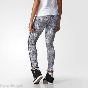 Details about Adidas Originals Snakeprint Leggings Size XS White & Grey AB0571 Tight