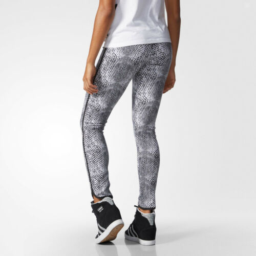 Adidas Originals Snakeprint Leggings Size XS White /& Grey AB0571 Tight