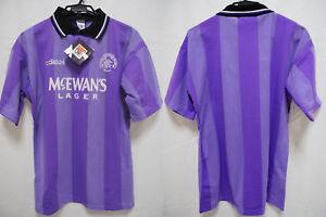 0dadcfd0d9f 1994-1995 Glasgow Rangers FC Jersey Shirt Third Mcewan's Lager ...