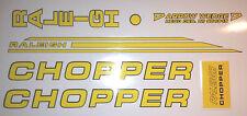 RALEIGH CHOPPER MK2 DECAL SET GLOSS YELLOW