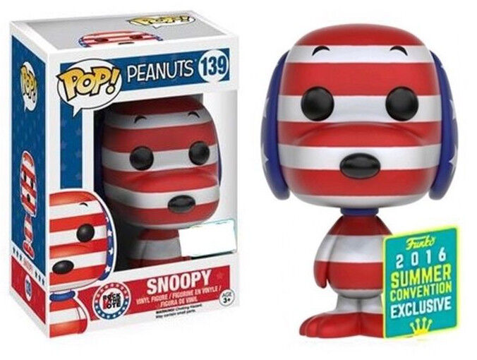 Patriotic Snoopy Peanuts 2016 Exclusive POP  Animation  139 Vinyl Figur Funko