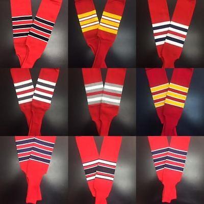 TCK Multi Stripe Stirrups Baseball Softball,Twin City Stirrup Socks Red-Navy-Wh