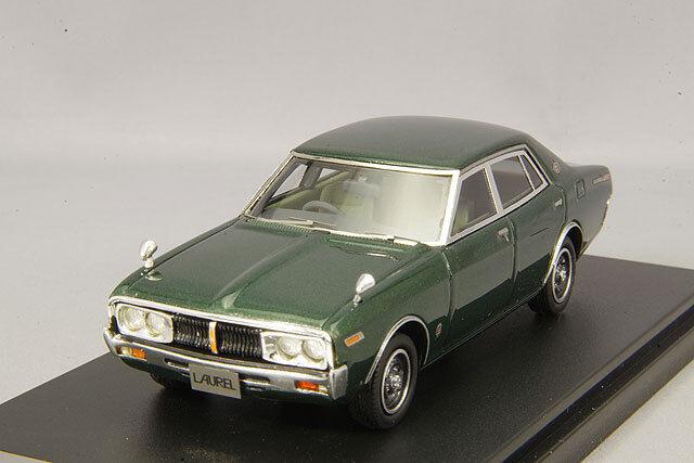1 43 Hi-Story Nissan Laurel Berline 2000 SGX (C130) 1974 vert métallique HS182GR